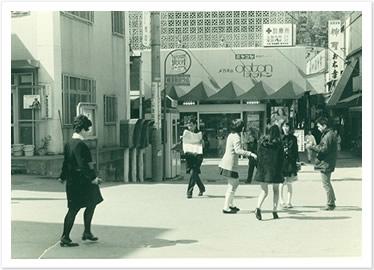 こちらが昭和41年のリュネット・ジュラミヤコヤ横須賀店です。