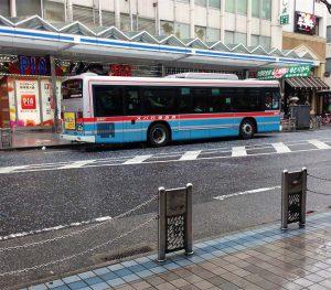 バスを使ってご訪問です!バスの移動はとっても便利だからです!